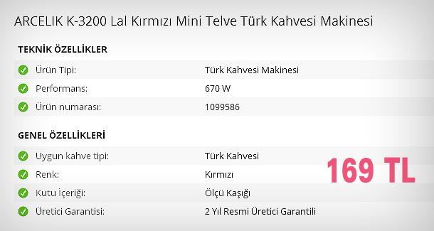 Arçelik Lal Mini Telve Kahve Makinesi Özellikleri ve Fiyatı